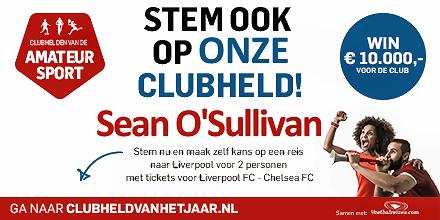 CLUBHELD Sean O'Sullivan, stem nu!
