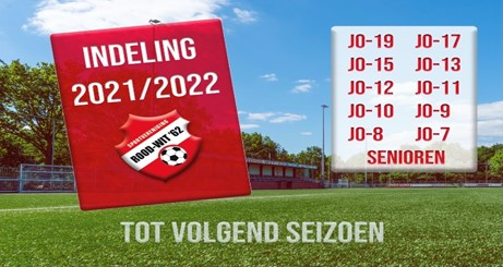 Team indeling jeugd 2021 – 2022