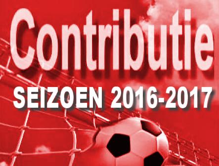 Contributie seizoen 2016/2017