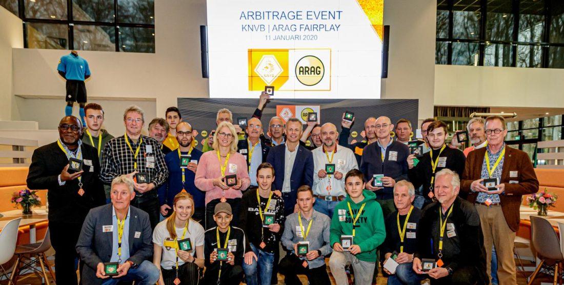 Scheidsrechterscommissie aanwezig bij KNVB ARAG Abritrage Event